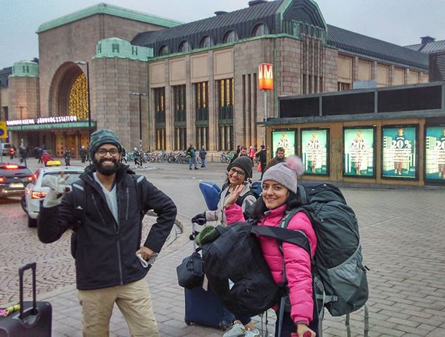 Thank you Helsinki From L-R - Sarvesh - Neha - Harpreet
