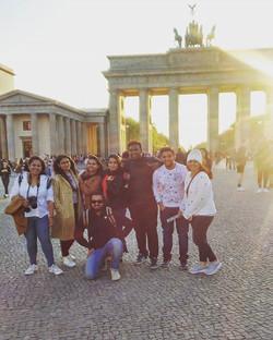 Super windy times at Brandenburg Gate ,