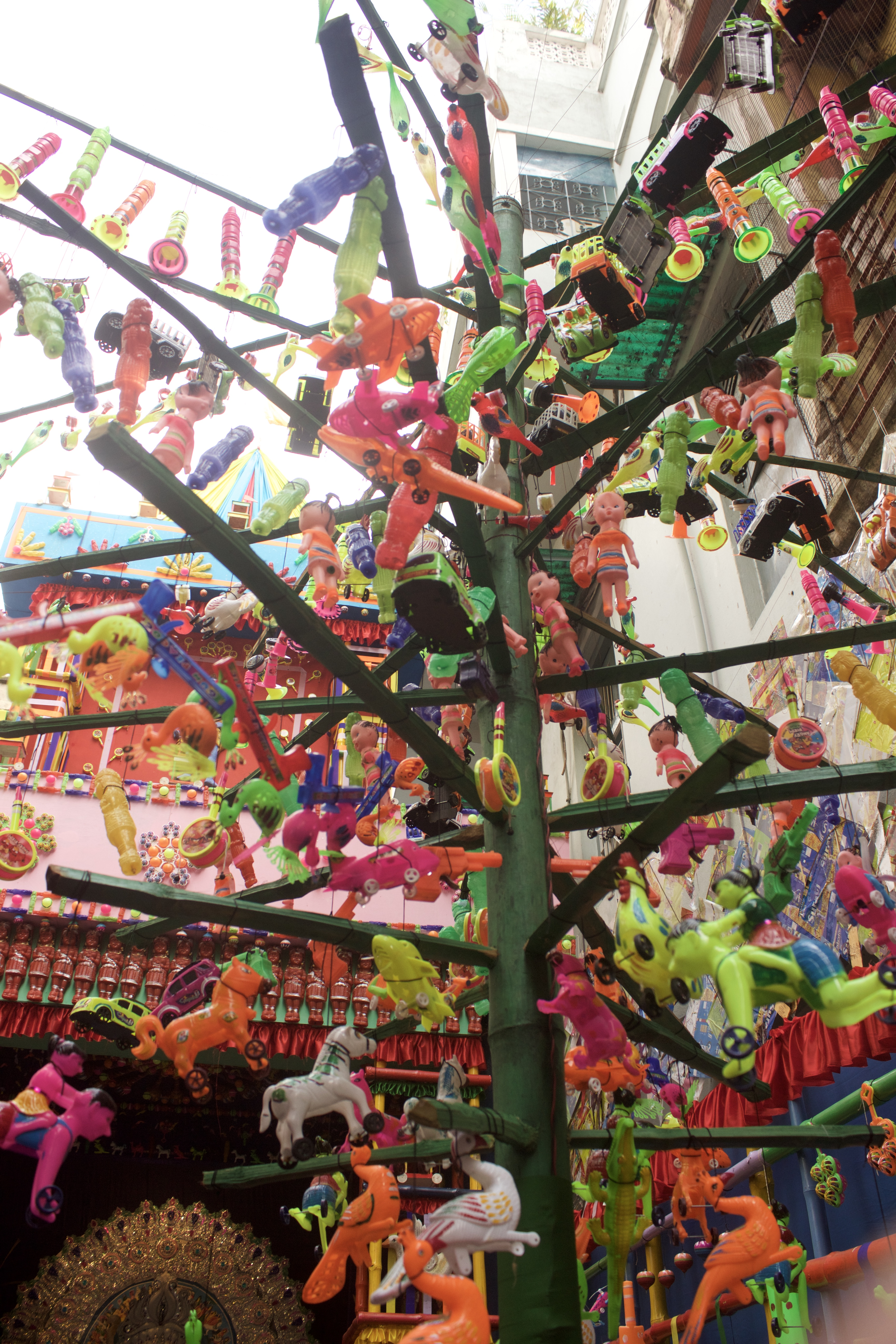 Pandal with toys