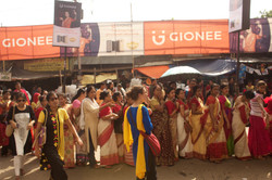 Women Stand in Queue for Sindhur pla