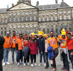 Memories of Kings Day - Our group enjoying Kings Day at Kings Palace