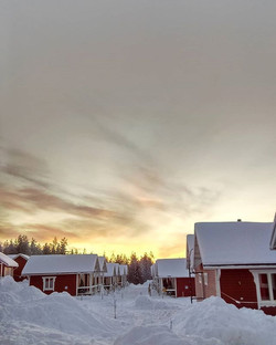 Sunsets from Santa Claus holiday village - Rovaniemi