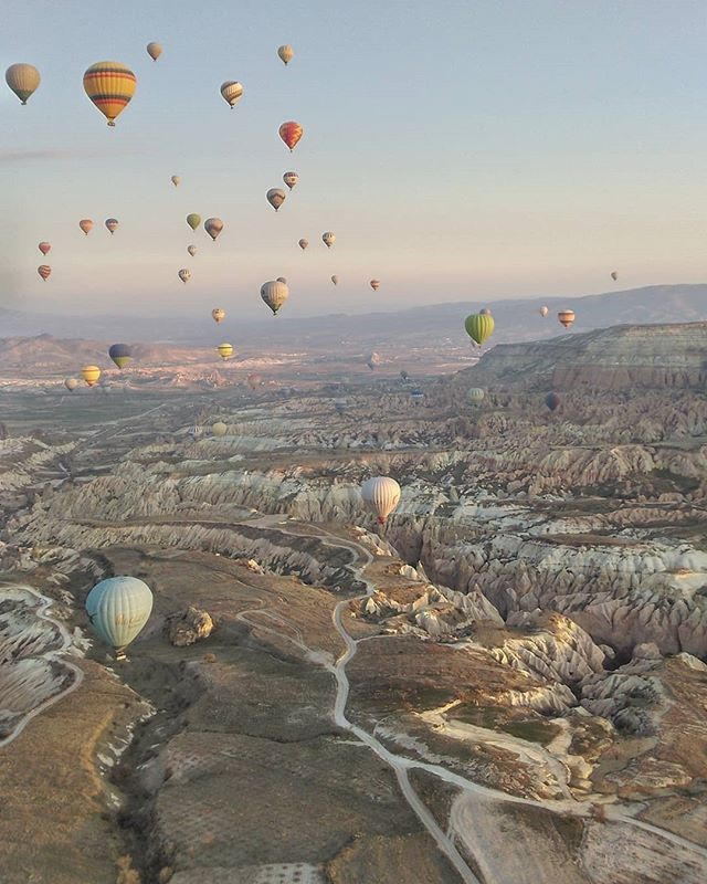 Travel takes you up in the hot air ballo
