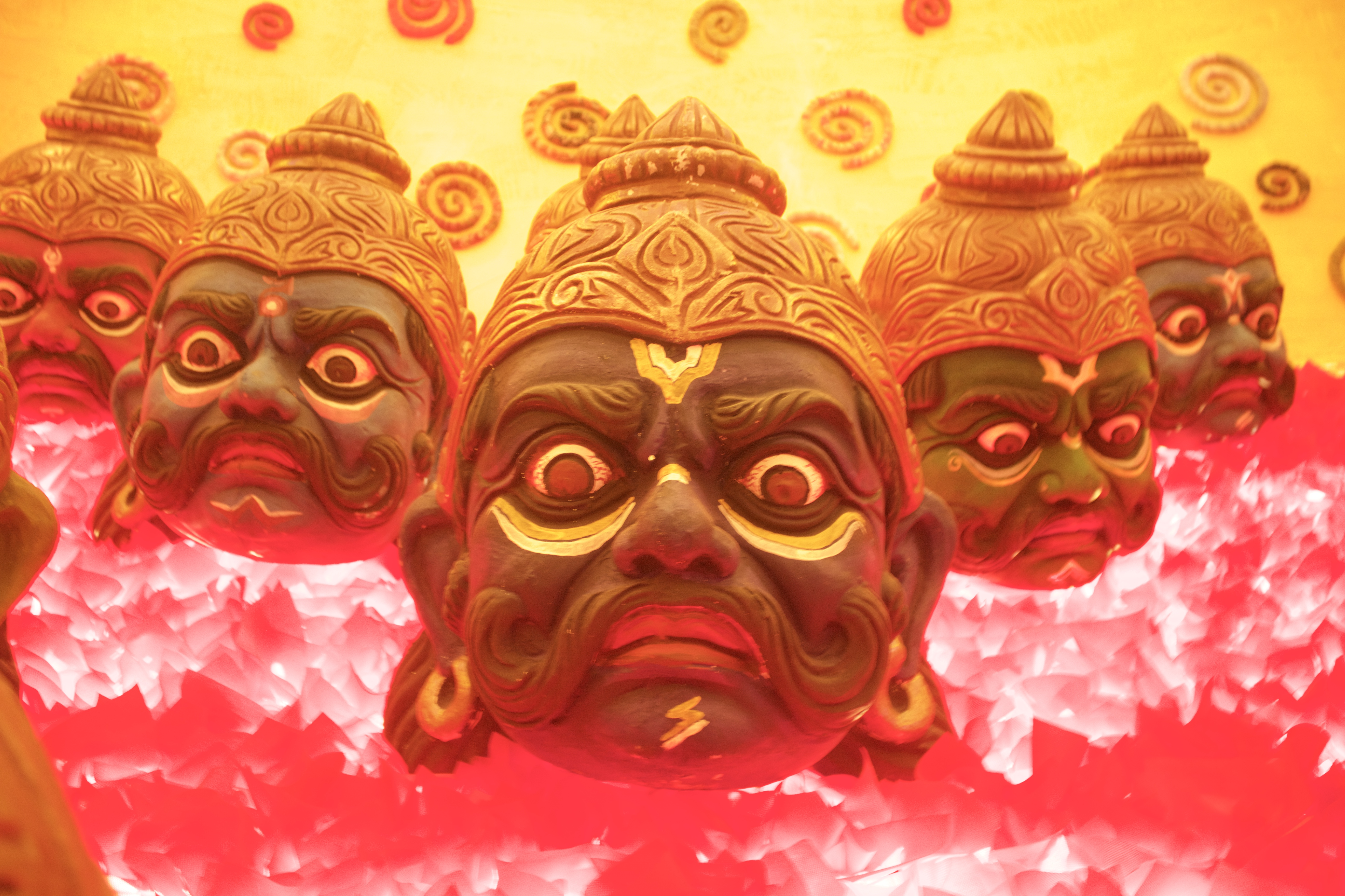 Demon theme at One of the Pandal