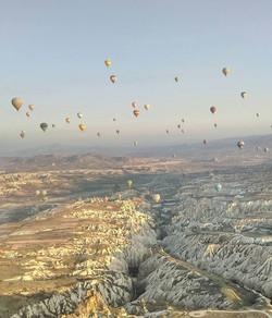 Hot Air balloon ride views in Kappadocia