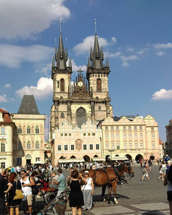 A walk by Old town Square , Prague. _Lazy Sunday Morning
