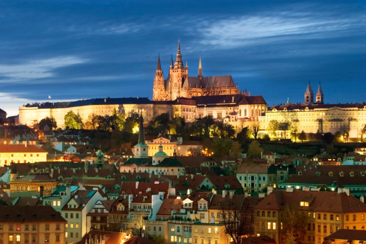 Prague Castle in Night