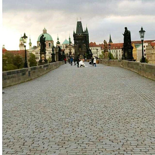 Charles Bridge ,Prague .