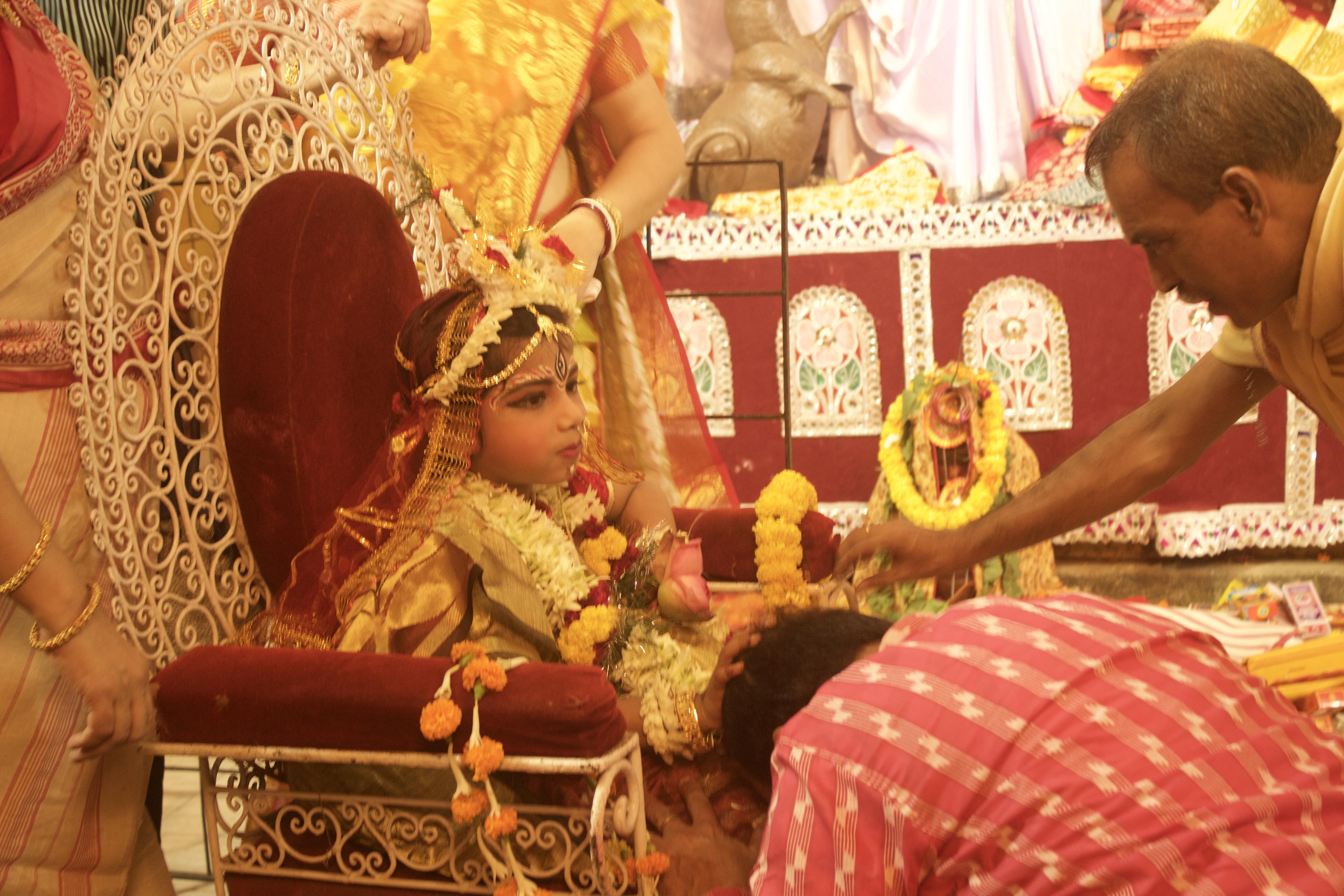 During Kumari Puja