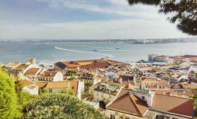 View of Lisbon from castle San jorge