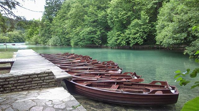 While walking in Plitvice National Park