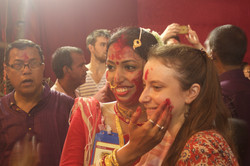 Women Playing with Sindhur
