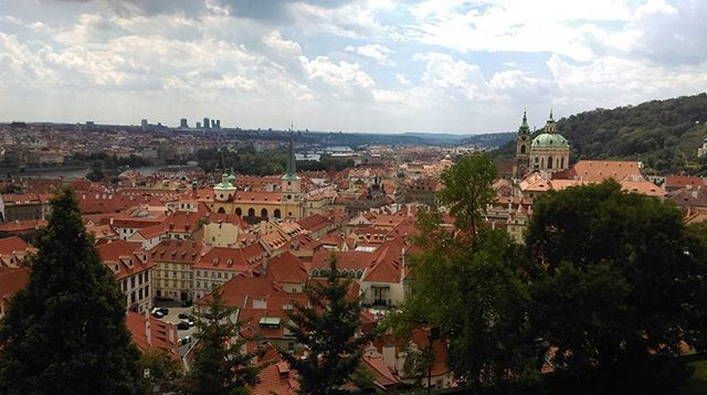 Beautiful Praha - View from Old Royal palace , Prague__#backpack_prague #Praga #Malastrana
