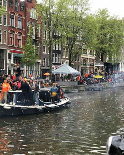 Canal Boat Party - Kings Day 2018