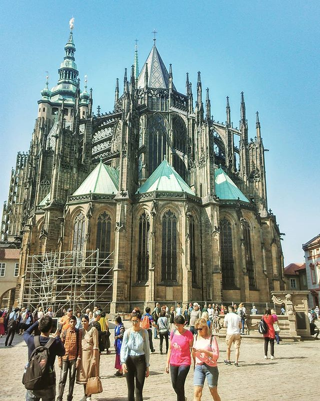 Standing in awe behind St.jpg Vitus cathedral  just imagining what an epic work of architecture it i
