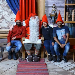 We met Santa Claus as well - Bidding Goodbye 2017