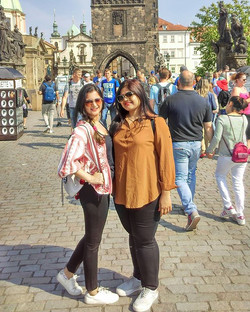 Happy faces - First Euro trips are always special. _Making memories in this beautiful city