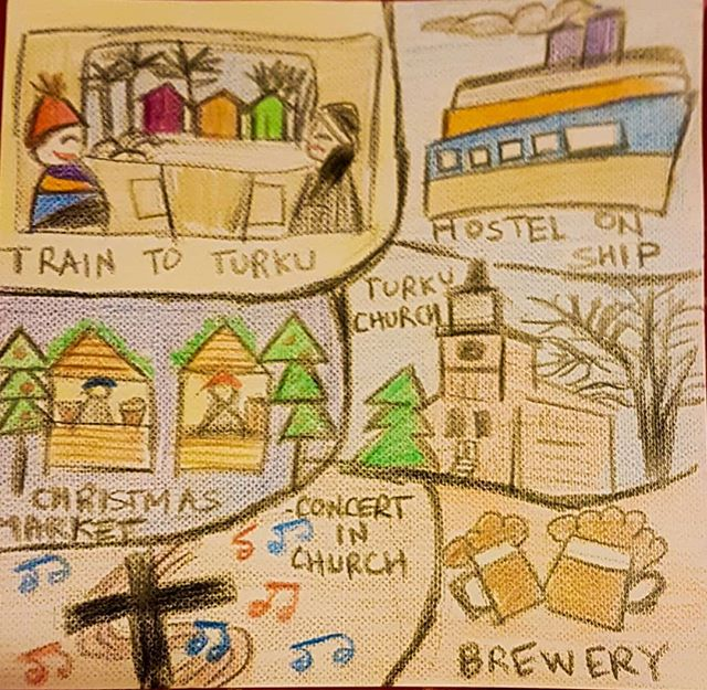Day 4 - sketched by _sonali.joshi49 - Sonali is from Mumbai and is one of the travelers onboard for