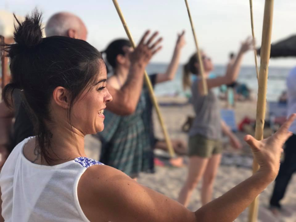 practicing on the beach - Spain - 2020