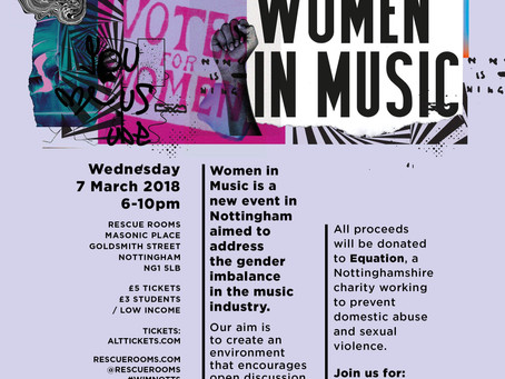 Nottingham to Hold Women in Music Event to Tackle Inequality in the Music Industry