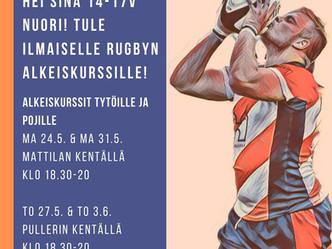 Suomi-rugby hakee tulevaisuuden tähtiä - Linnalla alkeiskurssi 14-17 -vuotiaille tytöille ja pojille