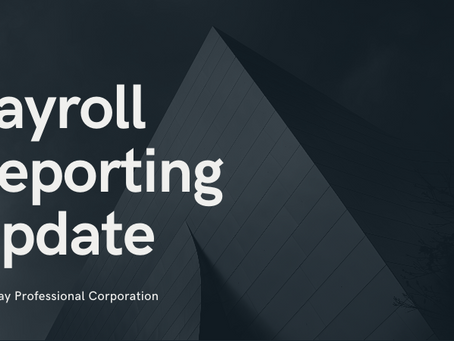 Payroll Reporting Update