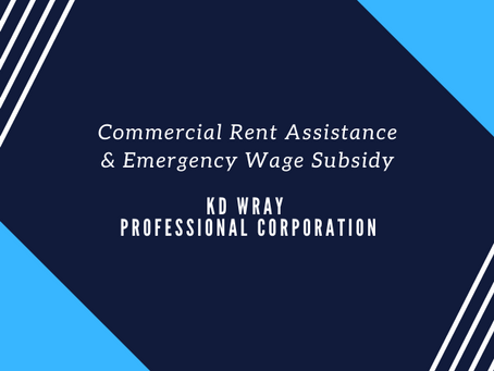Commercial Rent Assistance & Emergency Wage Subsidy