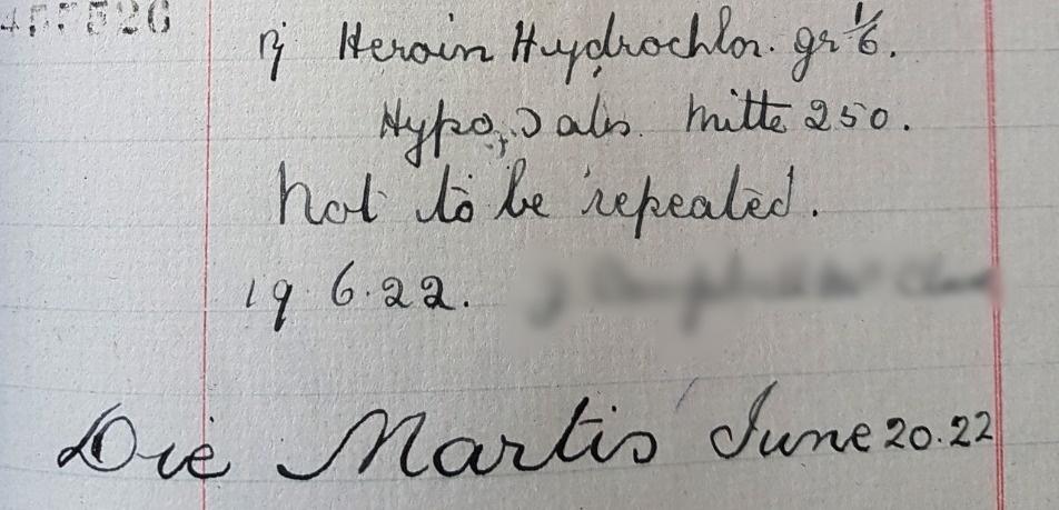 Heroin Hydrochlor. gr 1/6