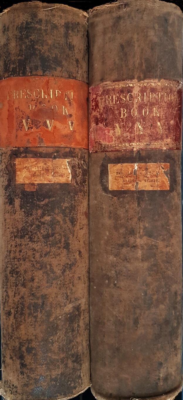 Prescription Books 1918-1922