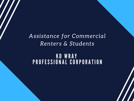 Assistance for Commercial Renters & Students