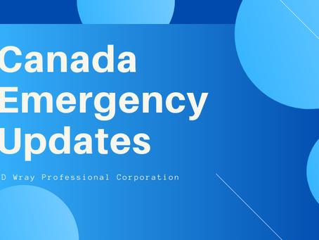 Canada Emergency Updates