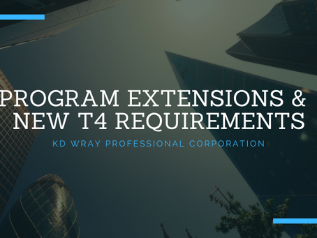 Program Extensions & New T4 Requirements