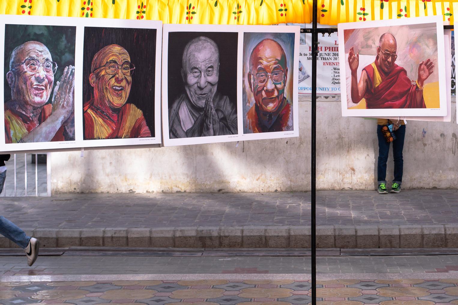 Main market area shortly after HH The Dalai Lama's Birthday - Leh, July 2018