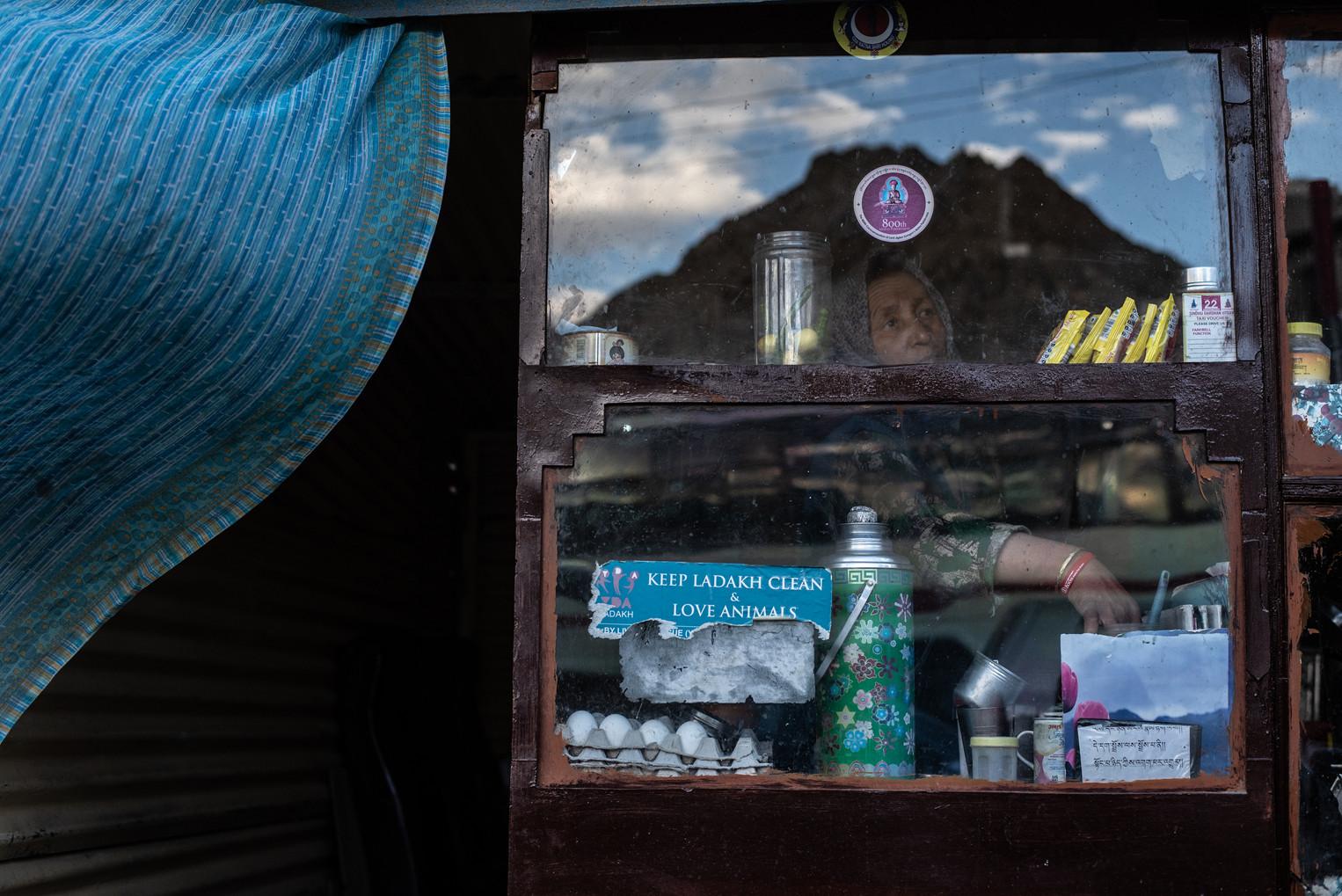 A shop owner - Leh, August 2018