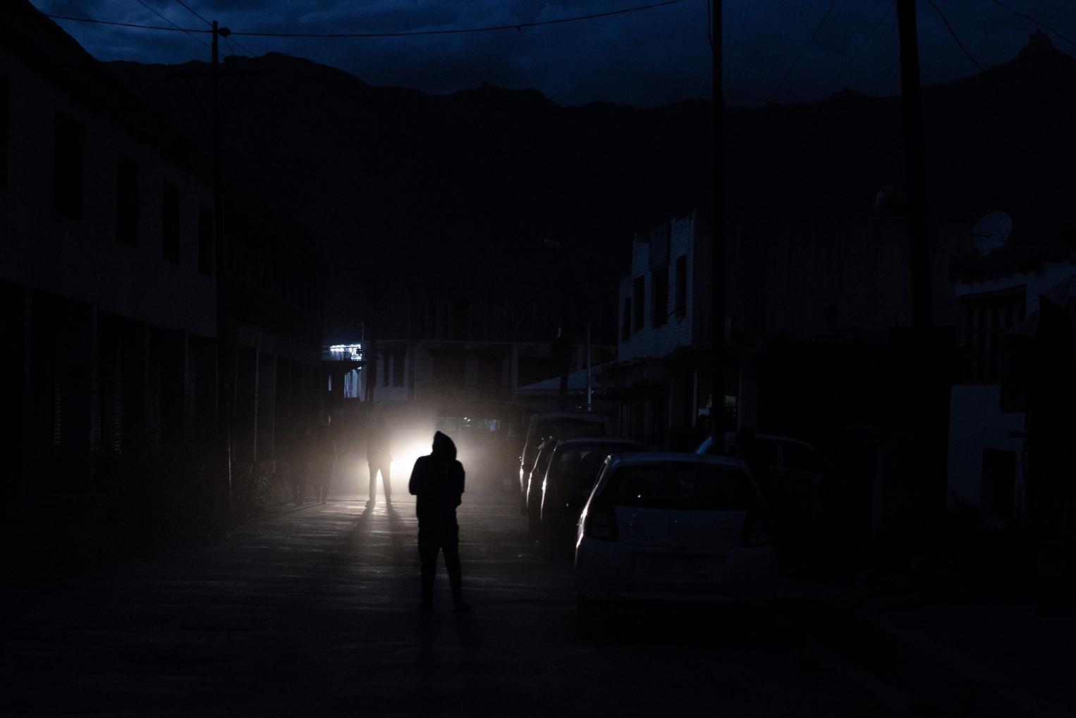 Main street of Padum at night - Padum, Zanskar, July 2018