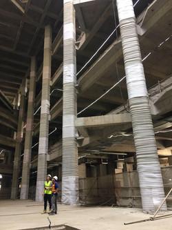 Columns in Interior Atrium