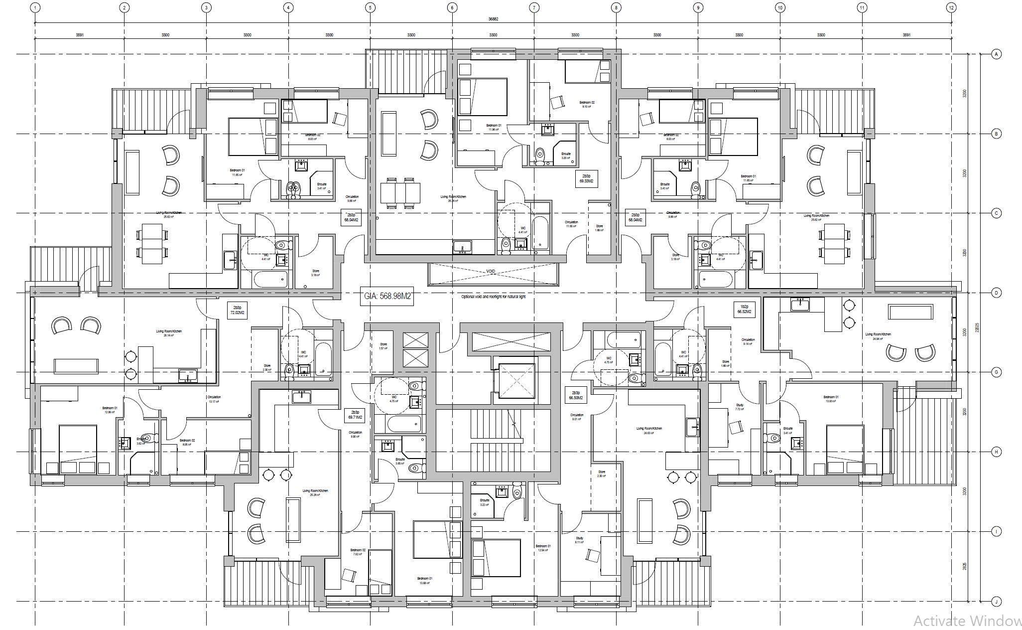 Apartment Block . Typical Plan