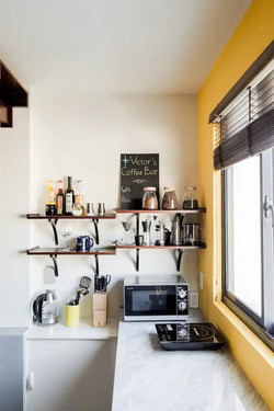 Kitchen and Coffee Counter