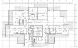 Apartment Block . Penhouse Plan