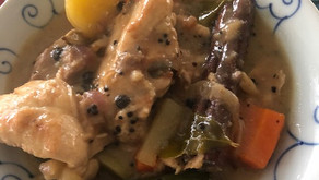 Gently spiced chicken stew: a New Year's tradition