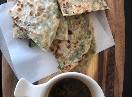 Scallion pancakes because they are quick, comforting and oh so addictive!