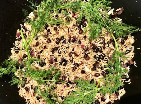 Spiced rice and beans: a quick version of Mujadara