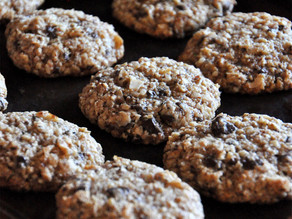 Choc-chip, coconut and almond meal cookies : gluten free and easy to make.