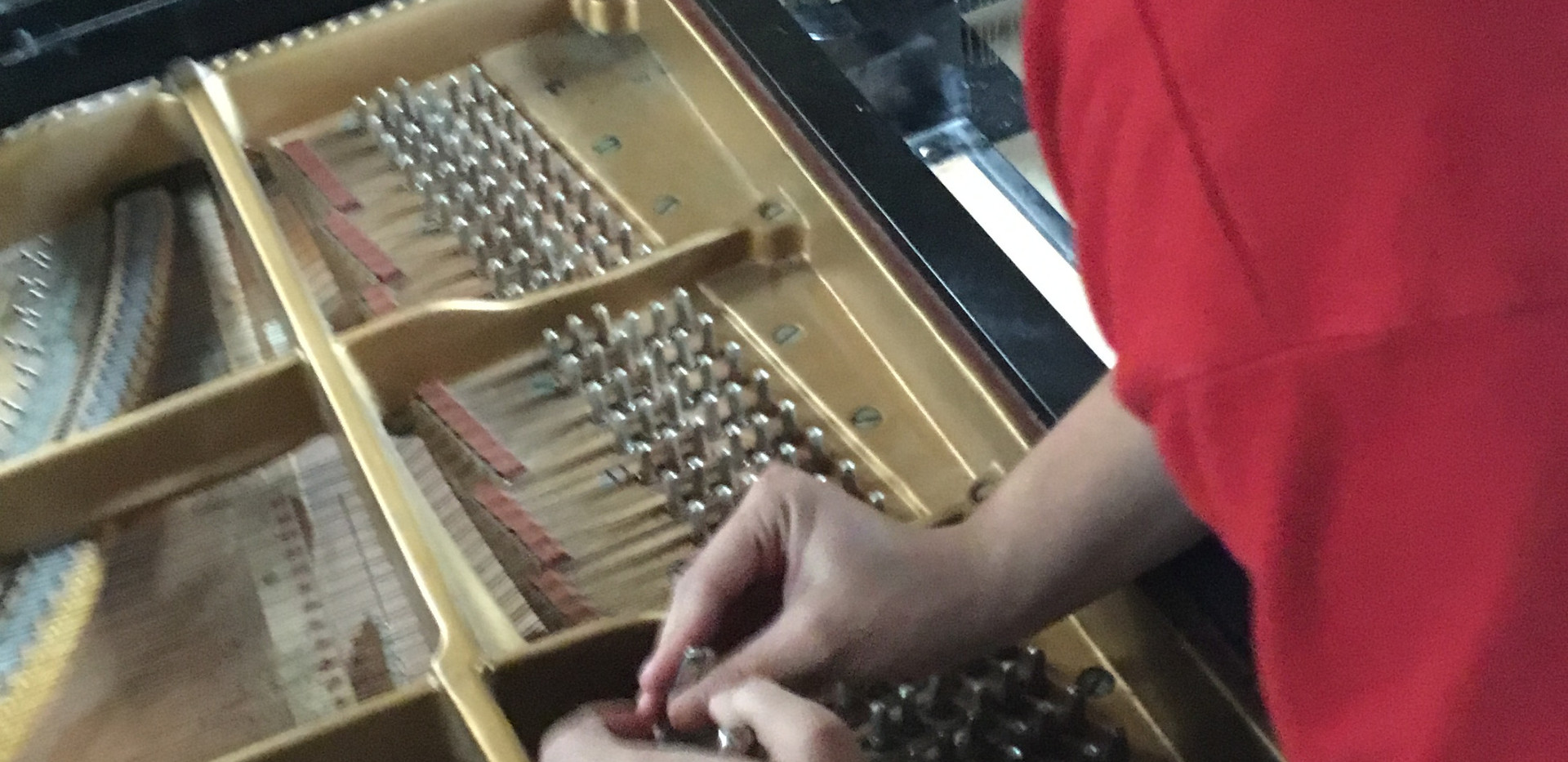 Beginning to Restring the Piano