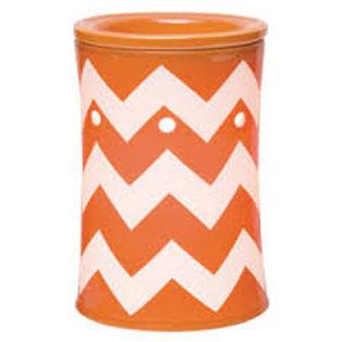 Orange Chevron Scentsy Warmer