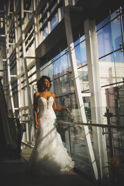 bridal styling (wand curls)