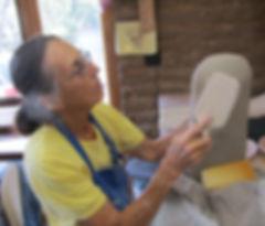 Luisa Baldinger, Santa Fe, New Mexico, creates handmade pottery and ceramic sculpture