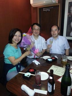 後援会顧問の池崎さん 大阪府から産業功労賞を授賞 2014.05.31