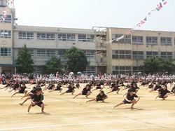 登美丘西小学校の登西ソーラン 2014.05.31