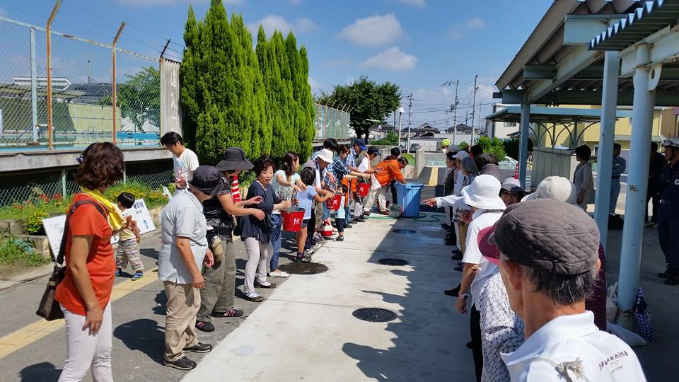 2014.09.07 野田校区にて防災訓練